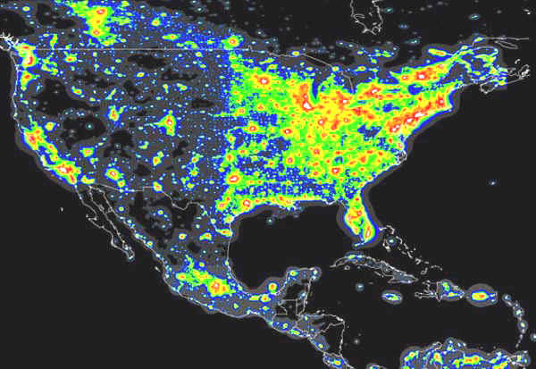 Light Pollution Map Of Australia Archive IceInSpace - Bortle map us