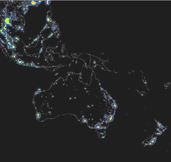 The World Atlas of the Artificial Night Sky Brightness